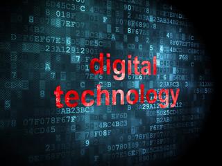 Data concept: Digital Technology on digital background