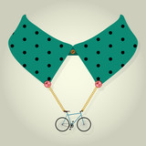 Hipster Collar with Chain Bicycle Accessory