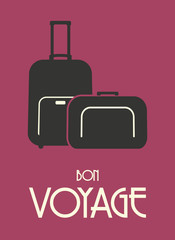 Travel bags retro poster