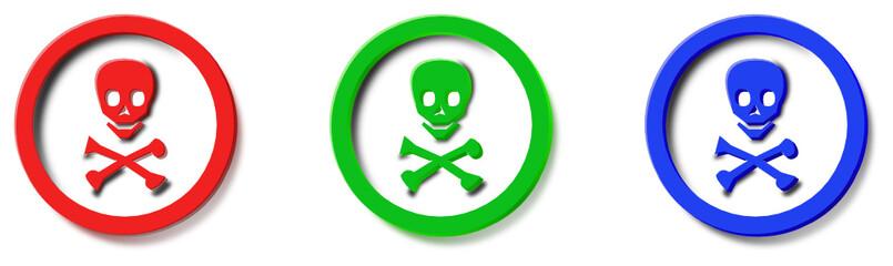 logo pirata rosso verde blu