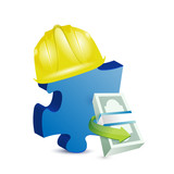 construction missing piece illustration design