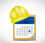 construction dates illustration design