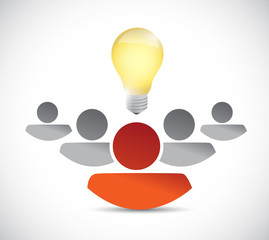 teamwork idea concept illustration design