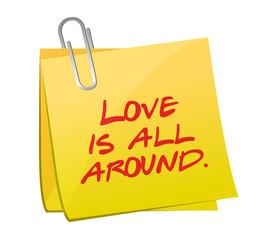 love is all around post illustration design