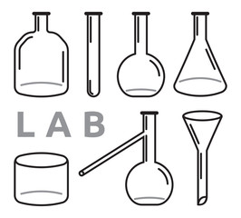 set of laboratory equipment