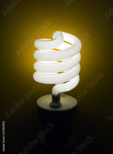 CFL - compact flourescent lamp, eco-friendly light bulb