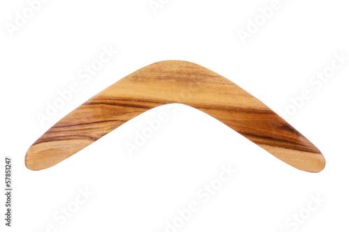 Wooden Boomerang Poster