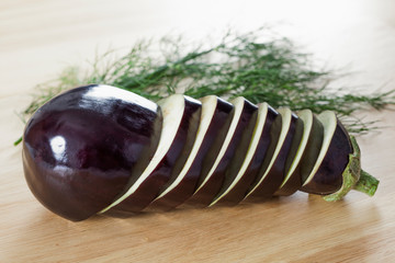 Raw aubergine