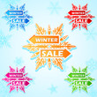 Winter Sale Snowflakes Sticker