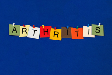 Arthritis - sign series for medical health care