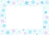 Rectangle backround with snowflakes