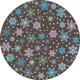 Round backround with snowflakes