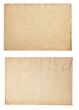 old retro envelope isolated on white