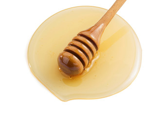honey and stick on white
