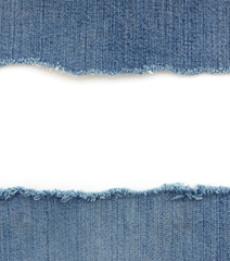 blue jean on white