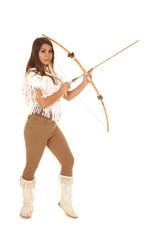 woman bow and arrow hold