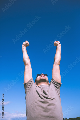 Attractive content man enjoying the sun