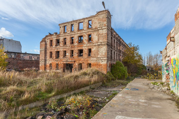 The ruins of the factory