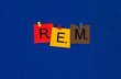 REM sleep - sign series for medical health care, fitness, wellbe