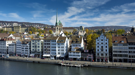 Zurich on a bright autumn day