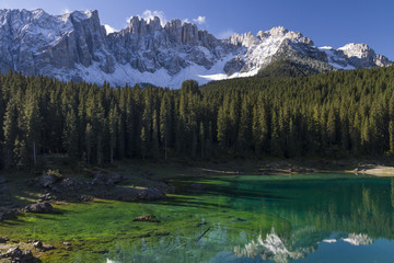 Karersee mit Latemargebirge