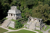Temple of the Sun at the Mayan ruins of Palenque in Mexico