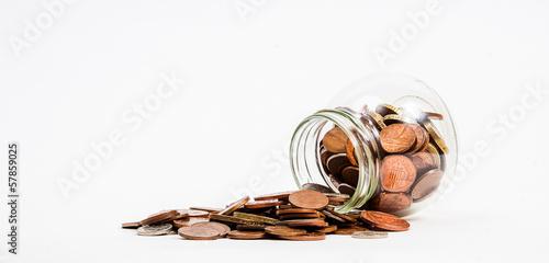 coins spilt