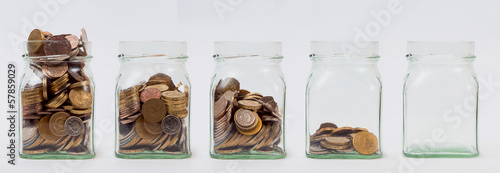Five Savings Jars
