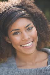 Portrait of gorgeous smiling brunette