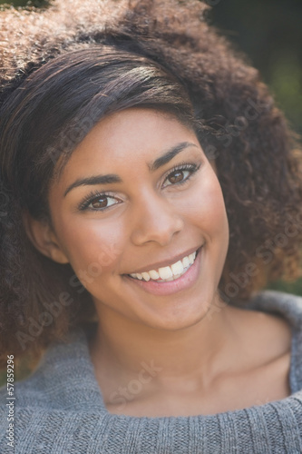 Portrait of gorgeous smiling brunette