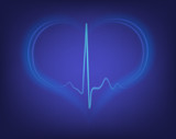 heart shape and electrocardiogram
