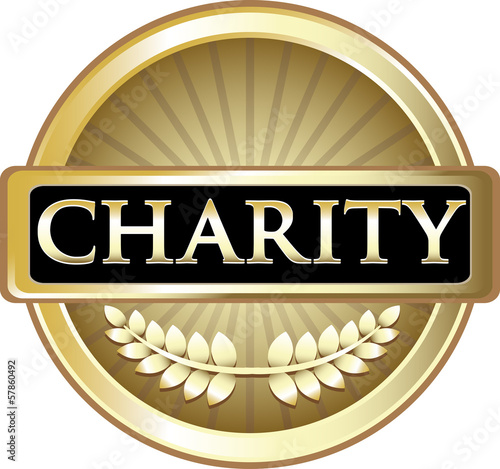 Charity Gold Vintage Label