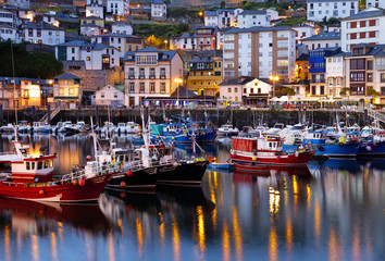 Luarca,fisherman village.Asturias,Spain.