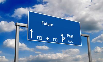 Autobahnschild Future