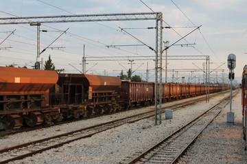 Грузовой поезд станция Подгорица