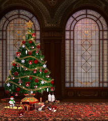 Christmas in an ancient palace