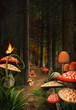Enchanted nature series - Mushrooms path