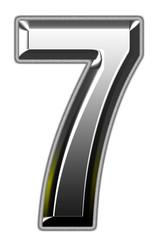 3d silver font illustration