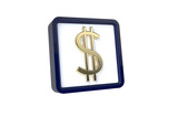 3d image of dollar icon on a white background