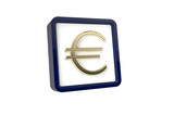3d image of Euro Icon on a white background
