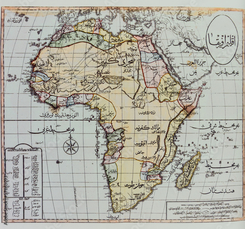 Historical map of Africa Poster