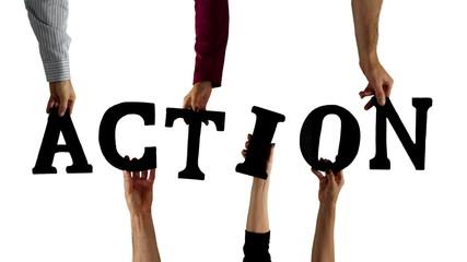 Letter Hands Motivational Word Action