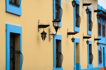 Colonial architecture in San Cristobal de las Casas (Mexico)