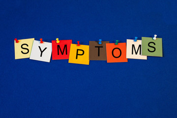 Symptoms - sign series for medical health care
