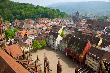 Buildings in Freiburg im Breisgau city, Germany