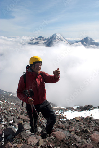 hiker at the top