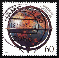 Postage stamp Germany 1997 Nuremberg Globe of Martin Behaim