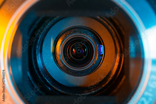 canvas print picture Camcorder optics closeup