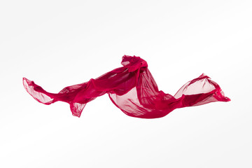 abstract multicolored fabric in motion
