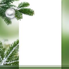 Frohe Weihnachten, Merry Christmas, Grußkarte